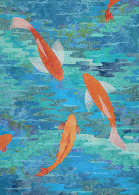Quilt gallery koi sarah ann smith for Koi pond quilt pattern