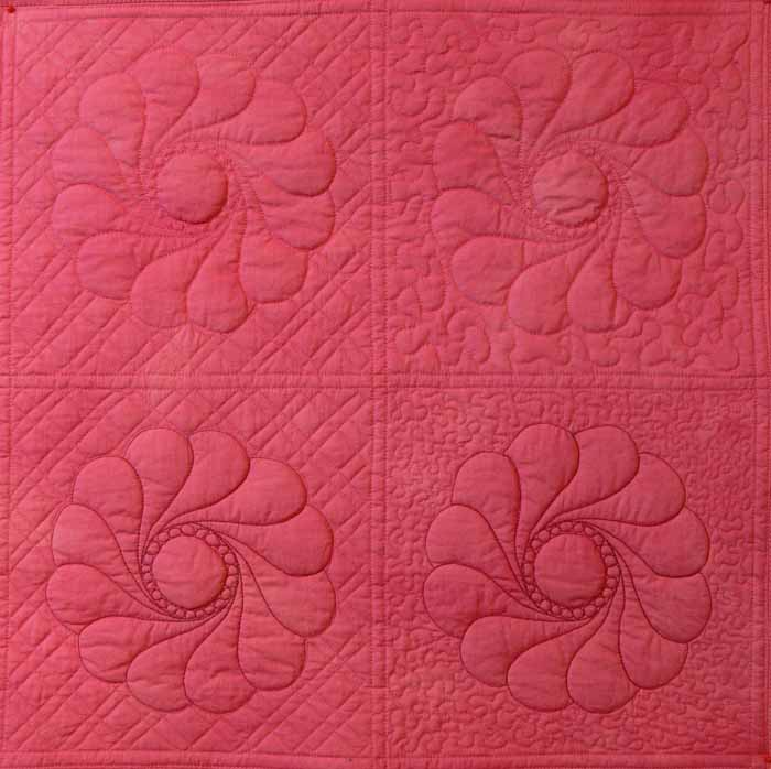 Coral Background Sampler, left side