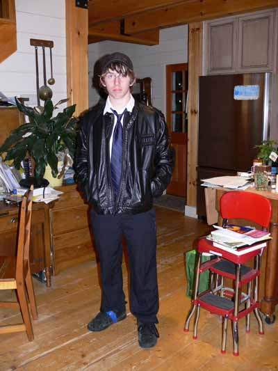 Joshua going to the 8th grade formal