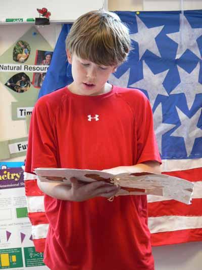 Eli reading poem