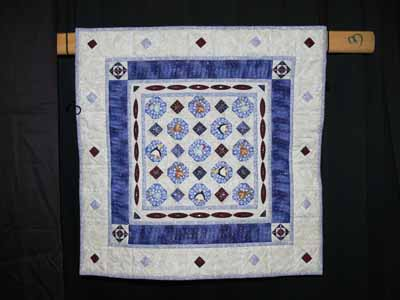 Beaded winter quilt