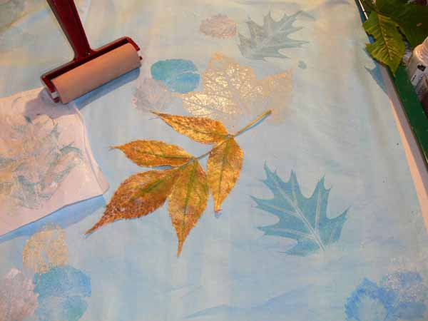 leaf on cloth