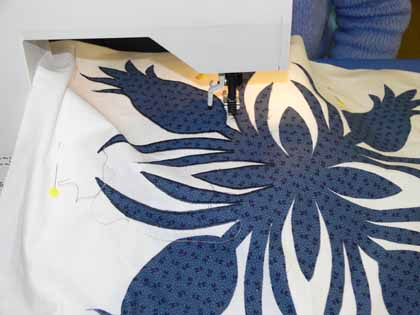 Pineapple…the subtle navy stitching is PERFECT