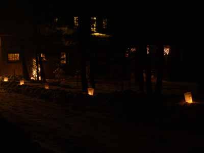 Luminaries on Christmas Eve 2008
