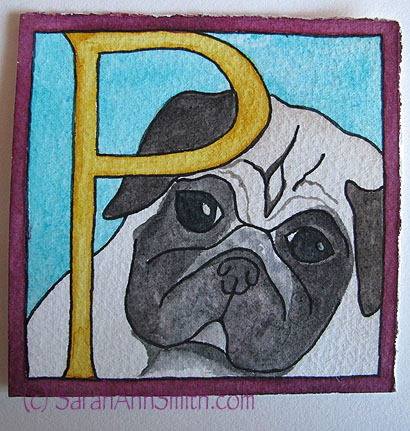 P is for Pigwidgeon the Pug