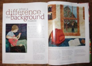 My new article on backgrounds.  Thanks to my friend Pat D. for suggesting I propose this to QA!  You rock, Pat!