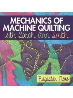 Learn how to get ready to machine quilt with Sarah Ann Smith.  Set up your space and materials so they help (and don't hinder) you!
