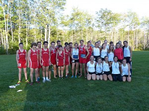 Reason to celebrate:  both Camden Hills Girls AND Camden Hills Boys WIN at Medomak!