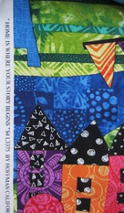The Selvage for Jamie's new fabric line.  Don't the colors and images just make you happy?!!!