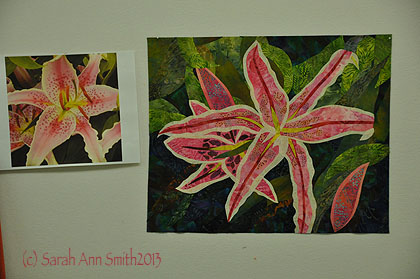 Pink lily, in progress