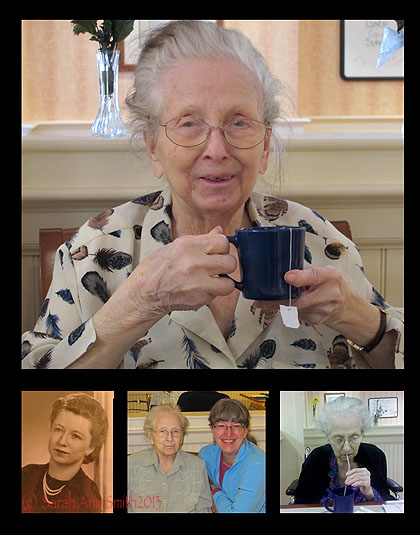 Say Hi to Gramma is a collage honoring my mom, who died that year.  The photo in the bottom center is our last Mother's Day together.