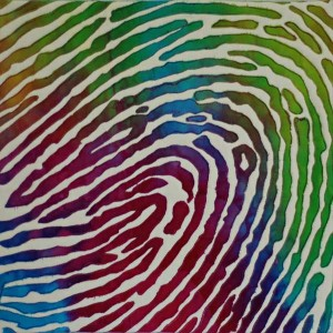 Fingerprint by Diane Perin Hock, another of the Colors challenges