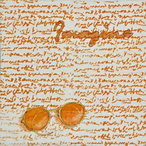 John Lennon's Glasses, part of the Orange color Twelve by Twelve Challenge