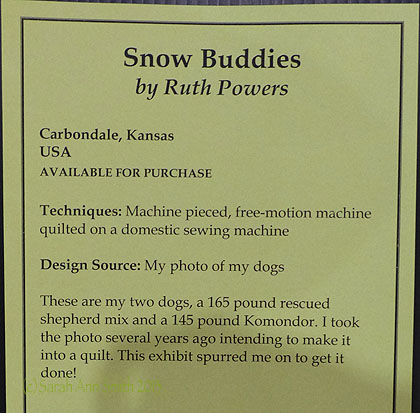 IQF signage for Ruth Powers' Snow Buddies