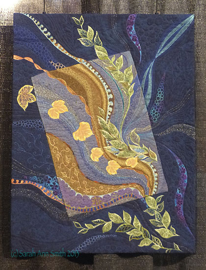 Jocelyn Leath's Seasonal View was amazing...fabulous quilting, color, line.