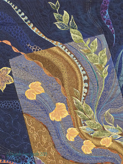 Detail of Seasonal Flow by Jocelyne Leath.  Gorgeous!