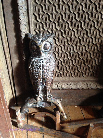 Jacquie:  isn't this a fine owl!  He looks a lot like my sketch that I posted a few days ago.