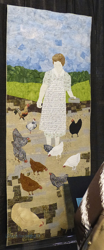 Rachel Parris grows as an artist every year.  I totally adore this piece.  It makes me think of our grandmothers' time and lives, and love how Rachel used the writing on the apron.