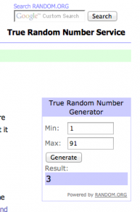 And the winner of the DVD is Daphne Greig, comment number 3!