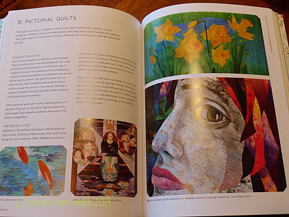 My Koi quilt is in the art Quilt section (detail, bottom left, where I'm thrilled to share a page with Lura Schwartz Smith-no relation).