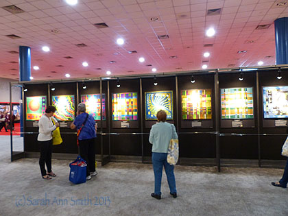 The exhibit was just inside the main doors as you enter the convention center on the quilt show side (as opposed to the vendor side) of Festival...what a wonderful way to begin!