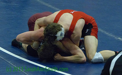 Eli in the Finals at Maine's 2014 Eastern Regional Wrestling Tournament