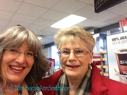 Carole Jurack came to meet me at the McDonalds at exit 200 in Ohio on I-90.   What fun!