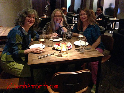 Cheers!  With Luana Rubin and Deirdre Abbotts
