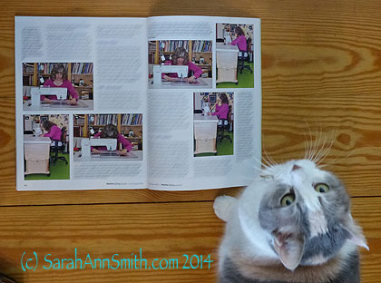 Thumper decided to read the article while I had the camera out to take a picture.  Ahem.