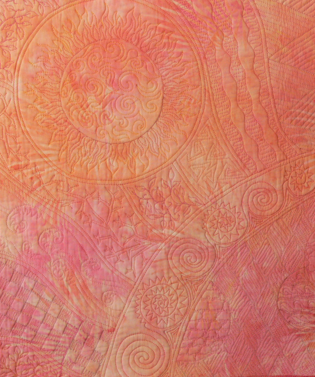 Coral Free-motion Quilting Sample, Click to view larger