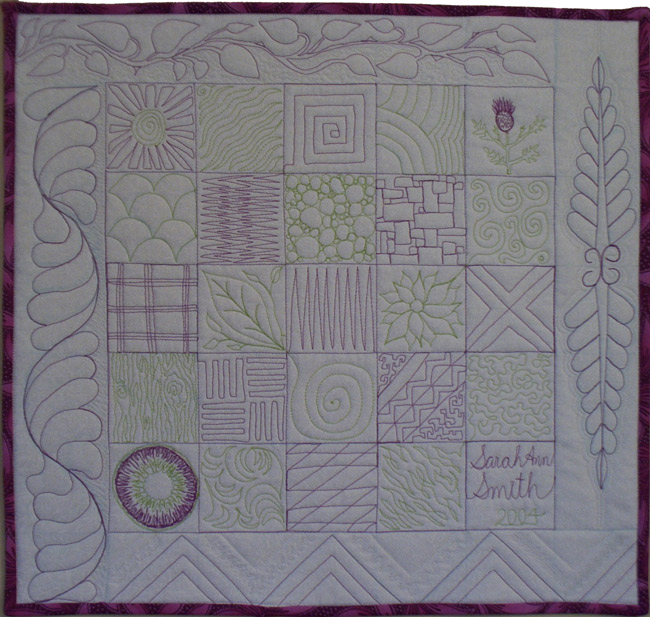 Let's Machine Quilt class sample