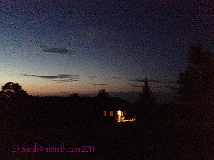 And a summer's evening dog walkies to close things out.  The light is from the entry/kitchen door to our house.