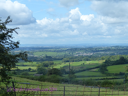 The English countryside, headed west from London to Bath.  Wales is in the distance.