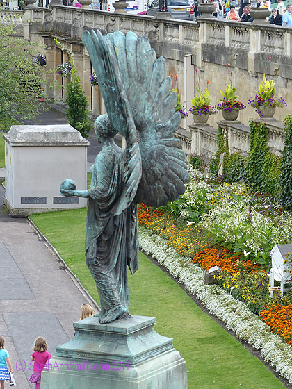 We were to meet the bus near to the Cathedral, where there was a park down by the river, with this beautiful angel.