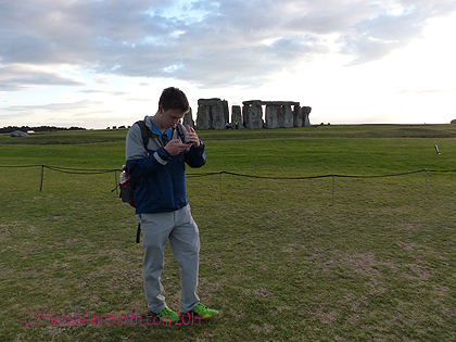 Even a teenager could be impressed, getting out his camera and checking the photo.
