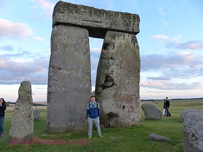 Eli at Stonehenge.