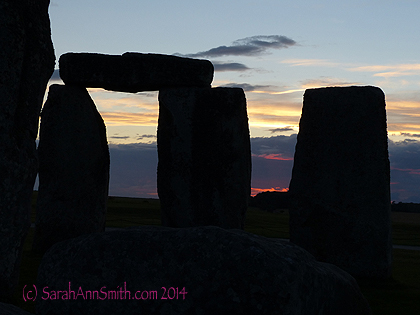 And it seemed the horizon was ablaze...Stonehenge, August 2014.