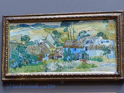 Back in the Impressionist rooms were a couple Van Gogh paintings.  Love this humble village.