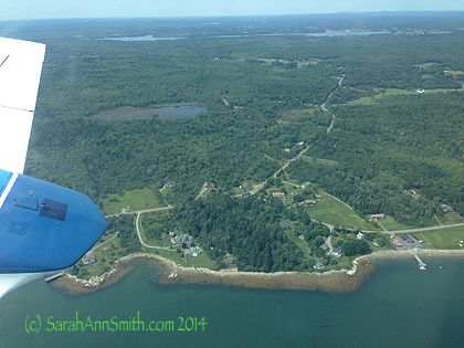 "The Maine coast just south of Owl's Head/Rockland as we headed East ""across the pond."""