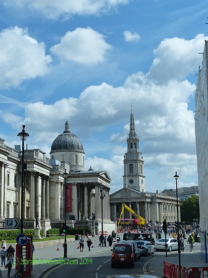 National Gallery on the left....