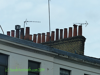 I also  had a lot of f un taking pictures of chimney pots everywhere.