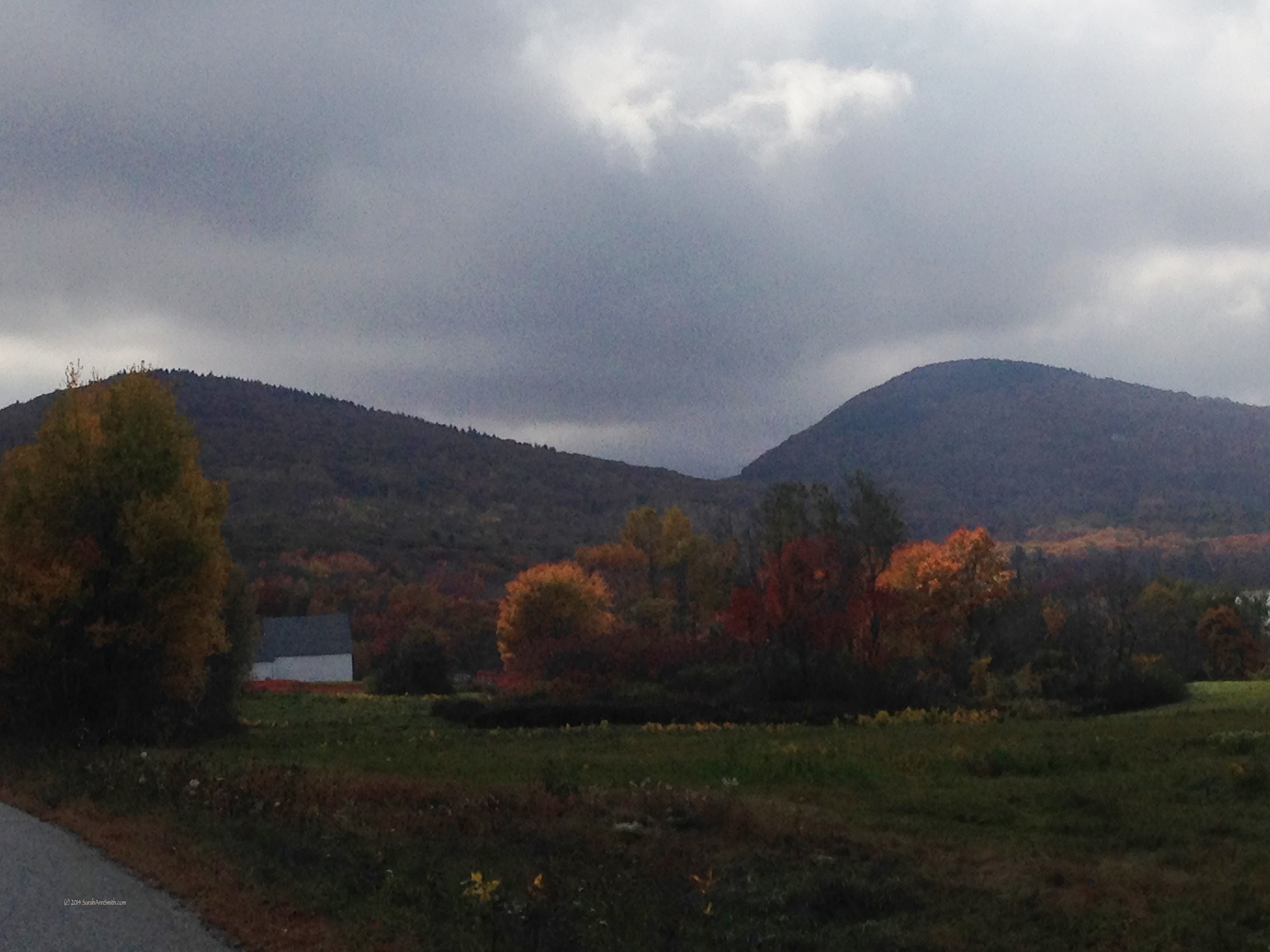 Looking towards Rockport from Hope Road, Hope, Maine.  Photo (c) Sarah Ann Smith