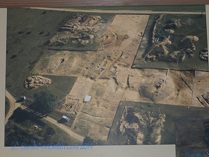 I bought a book about the site which has this photo that shows some of the area that was excavated.  Burial mounds were subject to frequent raiding over the centuries and many of the magnificent artifacts were looted.