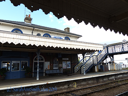 Here's the Woodbridge train station that afternoon, where we began our 4 hour journey (three trains) to York.