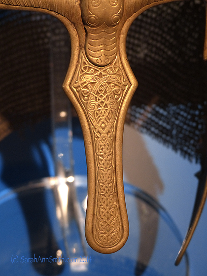 Nose piece from the York Helmet, an Anglian warriors helmet circa 1000 AD.