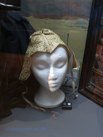 Embroidered woman's cap, early medieval era.