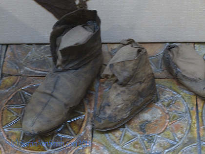 Not the best photo, but actual leather shoes from Vikings, circa 1000 AD.