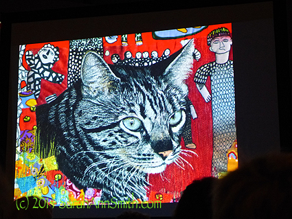 Pam Holliday's quilt of her cat