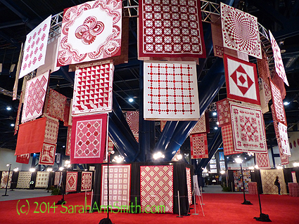 SWOON! This year was the 40th anniversary (the ruby anniversary) of the International Quilt Festival, and the 35th Anniversary of the (wholesale, to the trade) International Quilt Market.