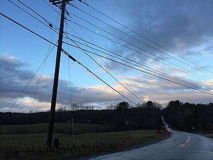 On Barnestown, headed west, near the North Fork turn.